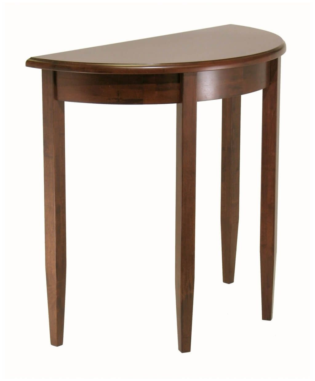 furniture mini and sleek half moon console table design cherry small accent big lots computer desk tablecloths napkins step side antique media storage end wooden bedside designs