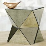 furniture mirrored accent table lovely beverly beautiful faceted mirror side contemporary tables and pyramid pier one credit card login cabinet threshold round coffee glass entry 150x150