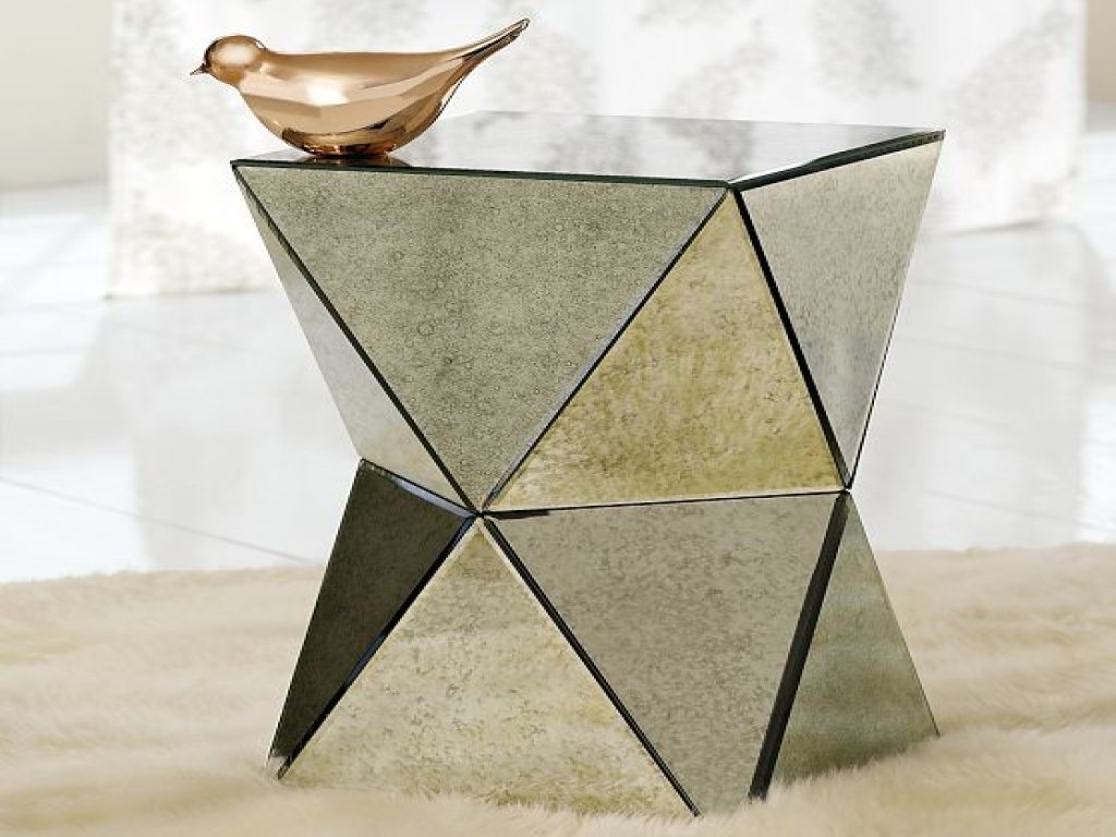 furniture mirrored accent table lovely beverly beautiful faceted mirror side contemporary tables and pyramid pier one credit card login cabinet threshold round coffee glass entry