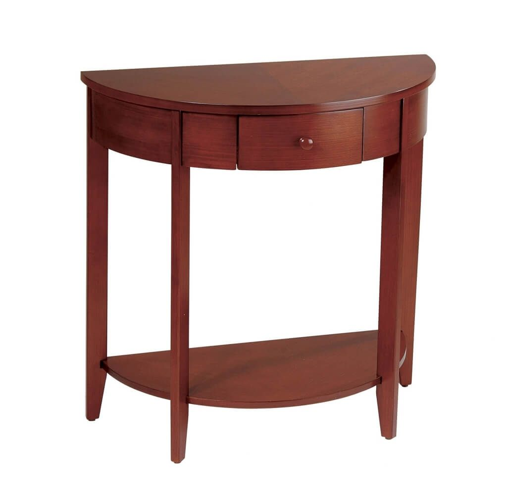 furniture modern espresso half moon console table design intriguing wooden madison well for hallway along with decor white accent turquoise coffee square end drawer mohawk home