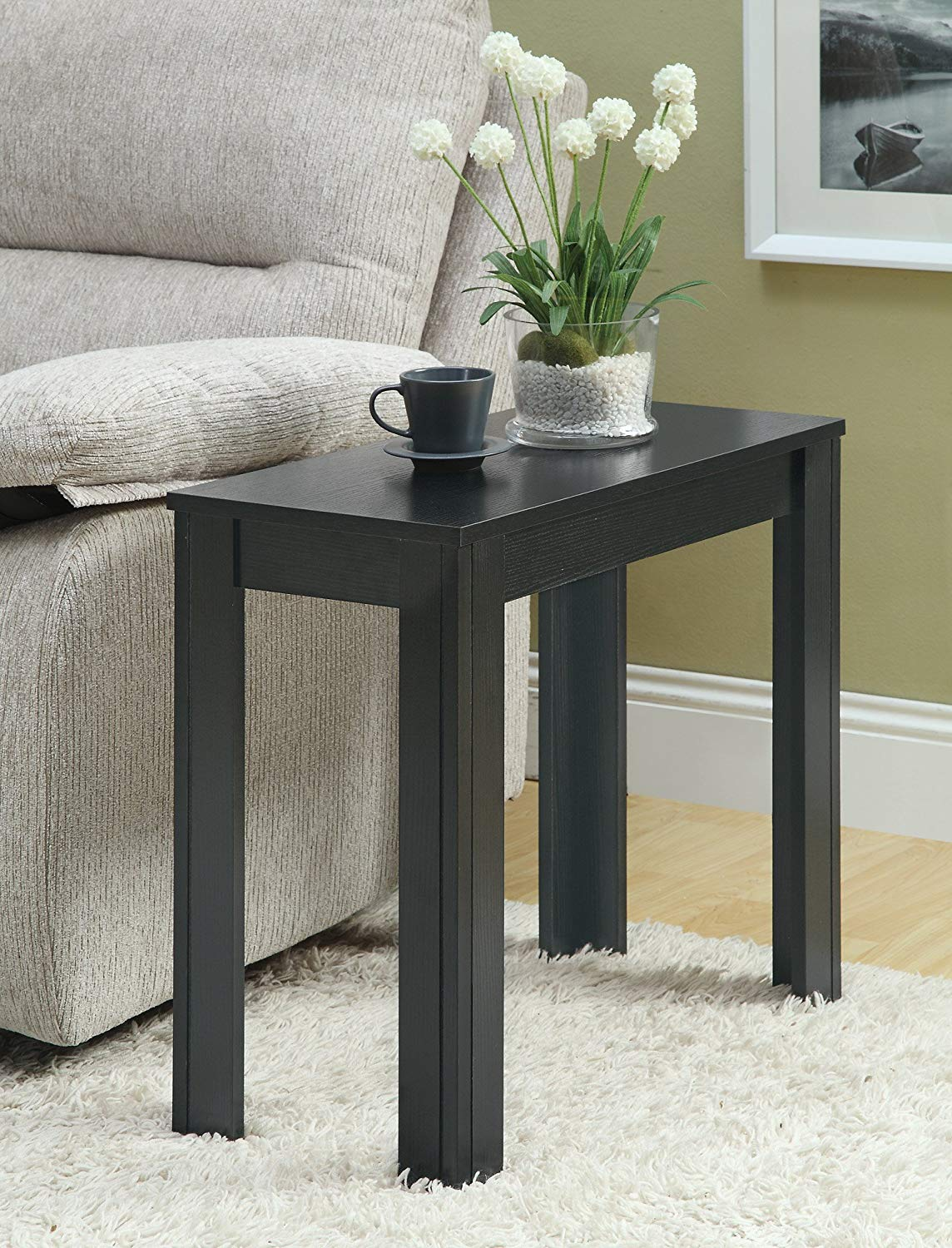 furniture monarch hall console accent table cappuccino specialties black oak side rubber floor divider mid century modern round dining acrylic chest coffee small narrow quilt