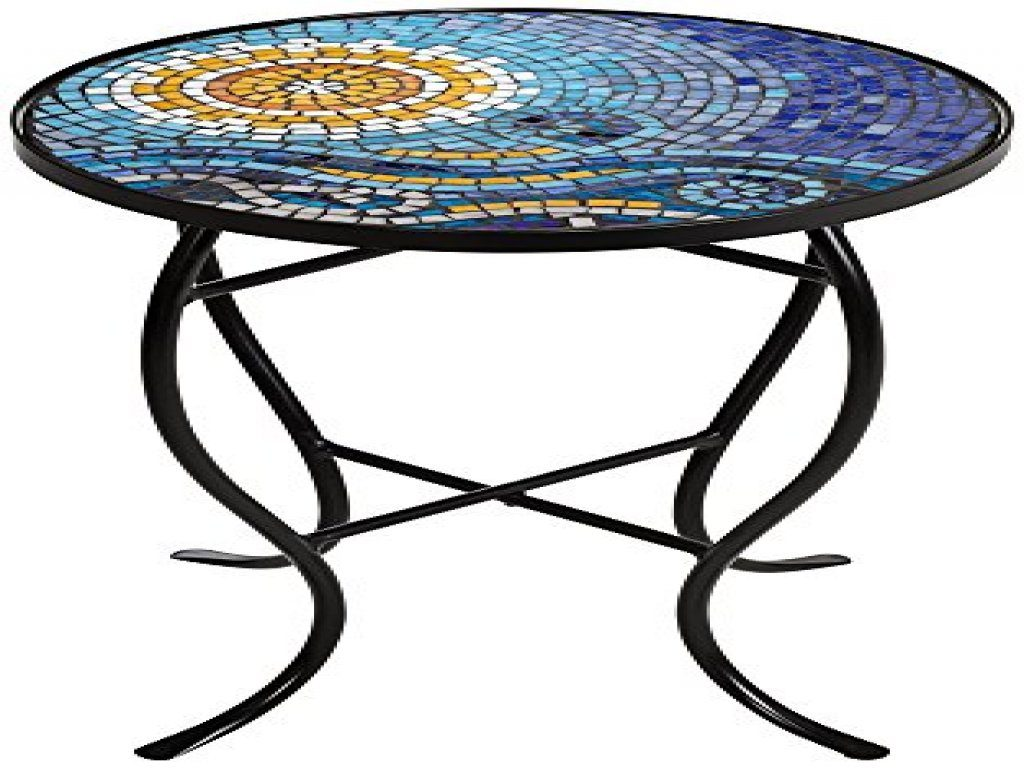furniture mosaic accent table outdoor new save ocean black iron outside grills white ginger jar lamps pottery barn marble two door cabinet tall end winsome instructions wicker