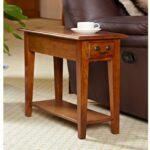 furniture narrow accent table awesome wood end with hardwood inch chairside medium oak tall antique fold down sides usb charger bistro tablecloth decorative corners living room 150x150