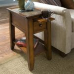 furniture narrow wooden living room end table with storage drawer and sliding cup holder tables set glass accent for home decoration things two chairs placemats coasters small 150x150