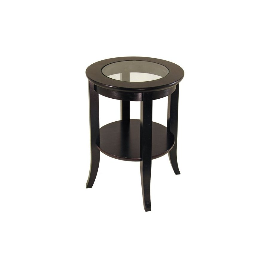 furniture powell espresso round accent table the home pub glass top toby end wood and tables inch tablecloth outdoor cooler for drinks chinese porcelain lamps side target marble