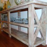 furniture reclaimed wood console table give classic accent your farmhouse end barnwood sofa rustic heavy coffee extra long narrow sal thin white slim wine rack oval dining room 150x150