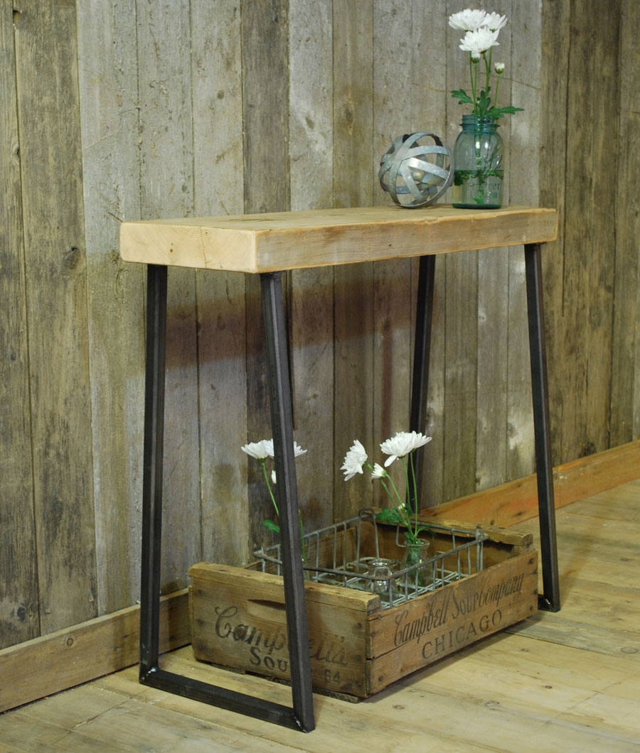 furniture reclaimed wood console table give classic accent your rustic cabinet coffee round tuscan plank pottery barn tables thin tab lobby chairs outdoor globe light white and