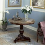 furniture round accent entryway foyer table and tables with floral arrangement armchair also area rug tile floors interior paint ideas plus chair rails for entrance chic decorate 150x150