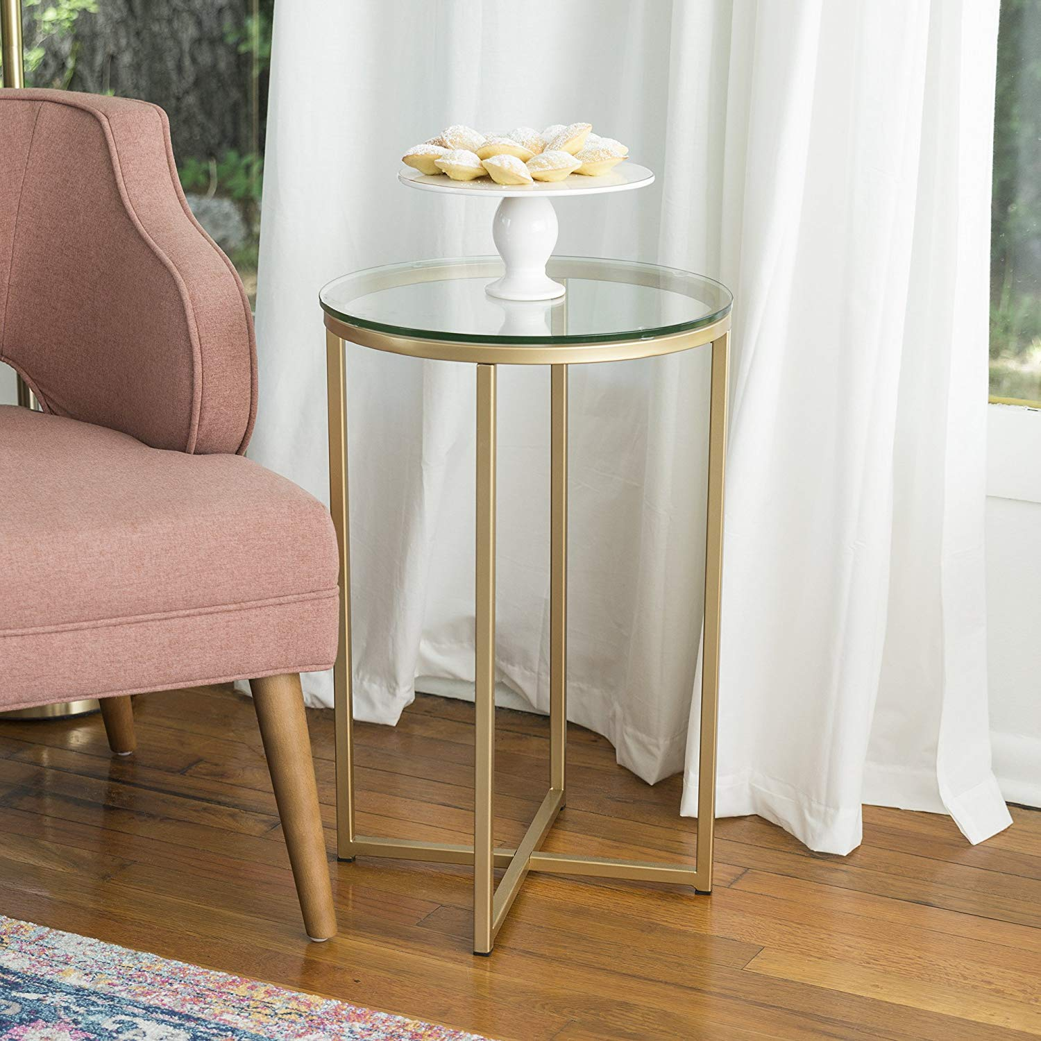 furniture round side table glass gold kitchen base accent target dining high top room sets copper drop down leaf white resin outdoor tables young america life square coffee