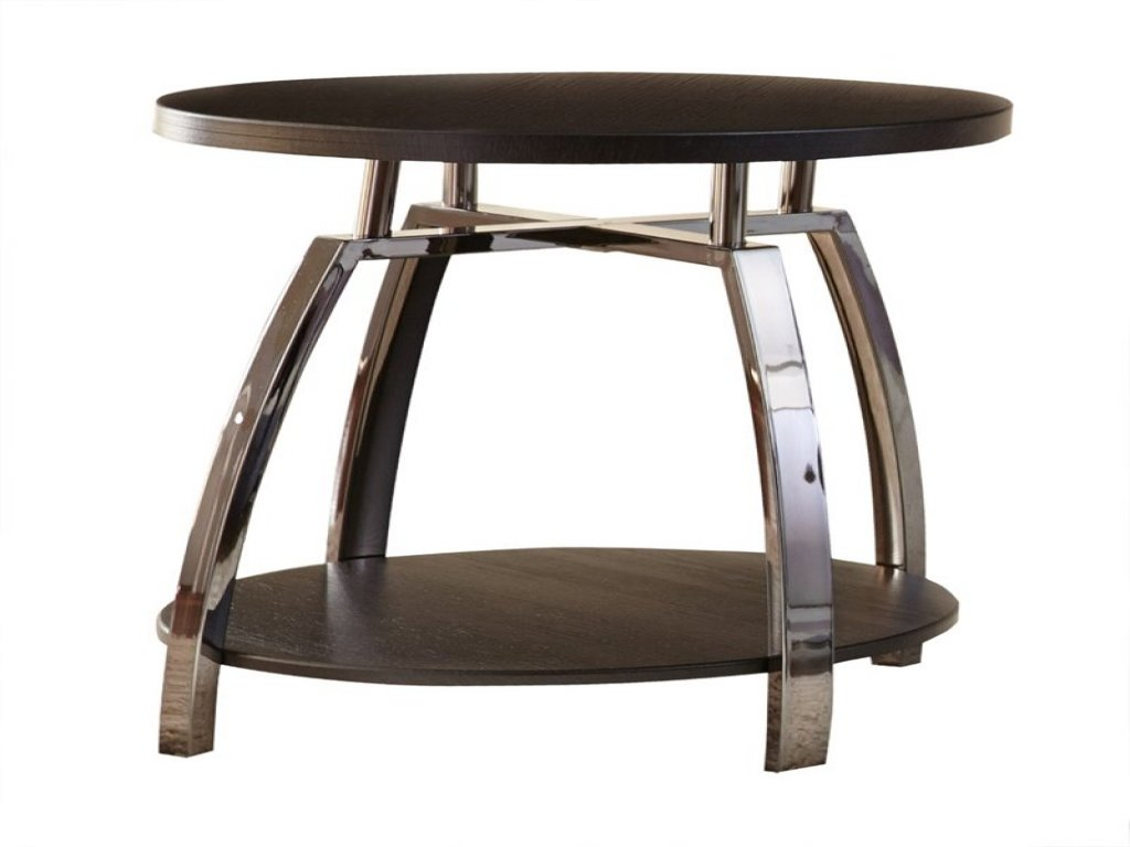 furniture round silver accent table luxury pedestal steve coham end black nickel aluminum small tiffany lamp piece and chairs desk leaf outdoor cushions glass steel side janika