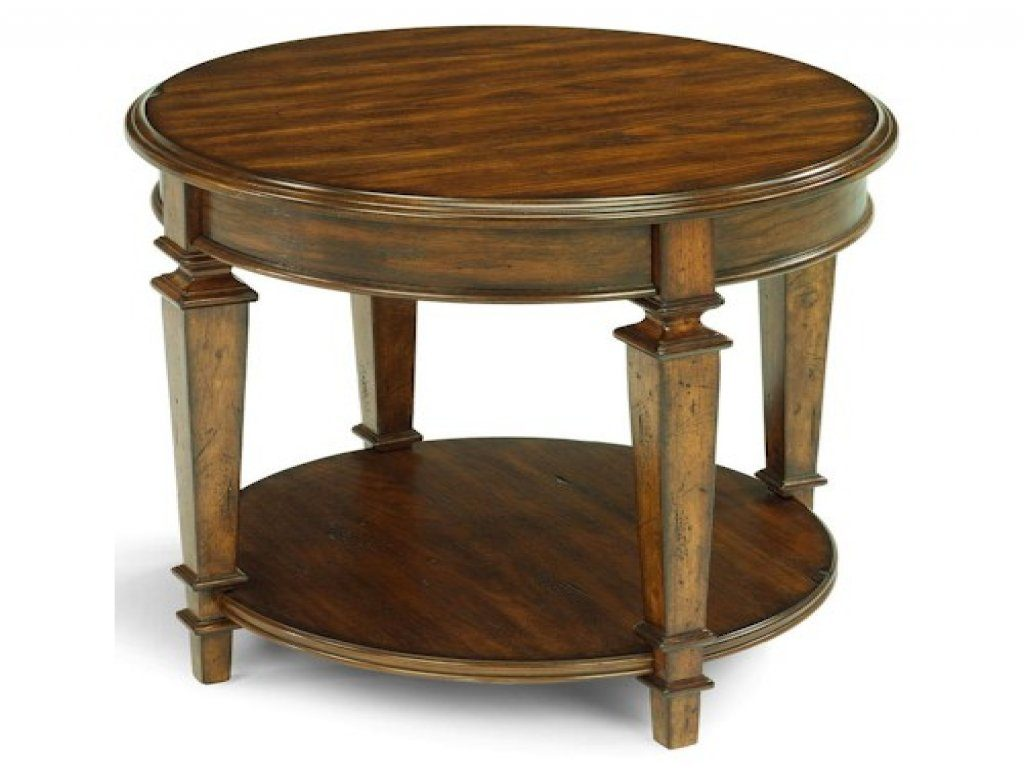 furniture round wood accent table new flexsteel oakbrook traditional end with metal tables tablecloth for ikea cement carpenter vise dining and chairs clearance glass design