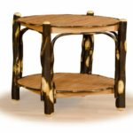 furniture rustic accent table fresh hickory oak tier round end tiered metal folding black wrought iron patio chest threshold espresso vintage scandinavian chair garden beer cooler 150x150