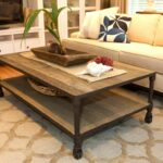 furniture rustic living room coffee table design with roller accent tables for rooms lamps tall skinny lucite and glass windmill clock contemporary occasional wood pier imports 150x150