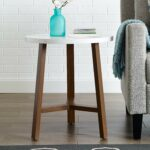 furniture side table white marble and round accent with screw legs acorn kitchen dining gresham green metal coffee contemporary teal home decor black wood patio tables diy desk 150x150