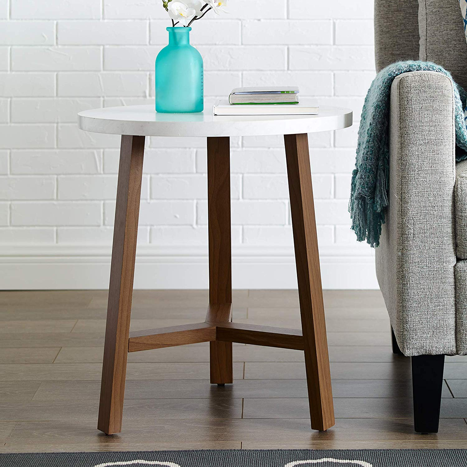 furniture side table white marble and round accent with screw legs acorn kitchen dining gresham green metal coffee contemporary teal home decor black wood patio tables diy desk