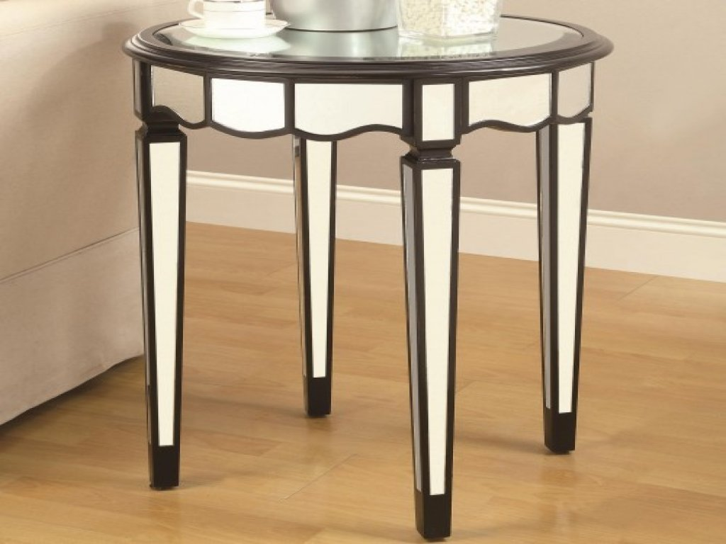 furniture silver accent table luxury gail accents unique black round coaster target lamp shades industrial art deco end living room console half moon mirrored kirklands tables bar