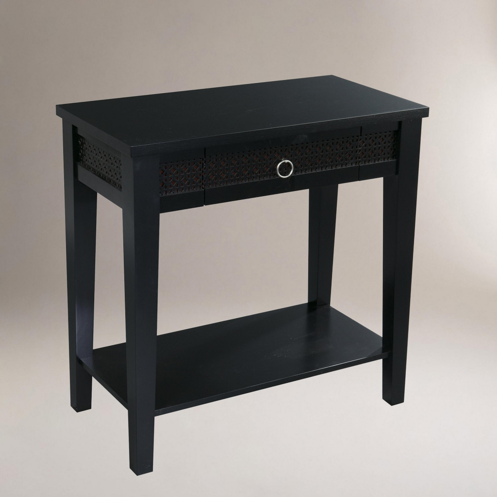 furniture small black desk fresh console table simple thin tables accent throughout bone inlay side nautical vanity mid century modern dining set laminate floor trim decorative