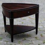 furniture triangle accent table best brown polished elegant wooden end with corner wine rack kitchen dining arrangement vintage ethan allen foyer decor round oak dale tiffany 150x150