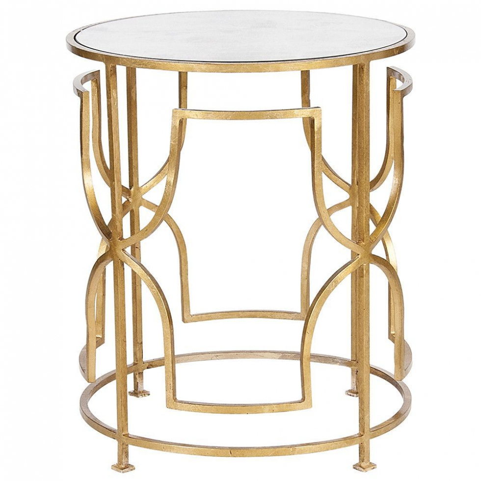 furniture worlds away round side table with antique mirror top gold leaf inside ornate accent mirrored marvelous for your home concept wine rack pedestal lamp verizon tablet tall