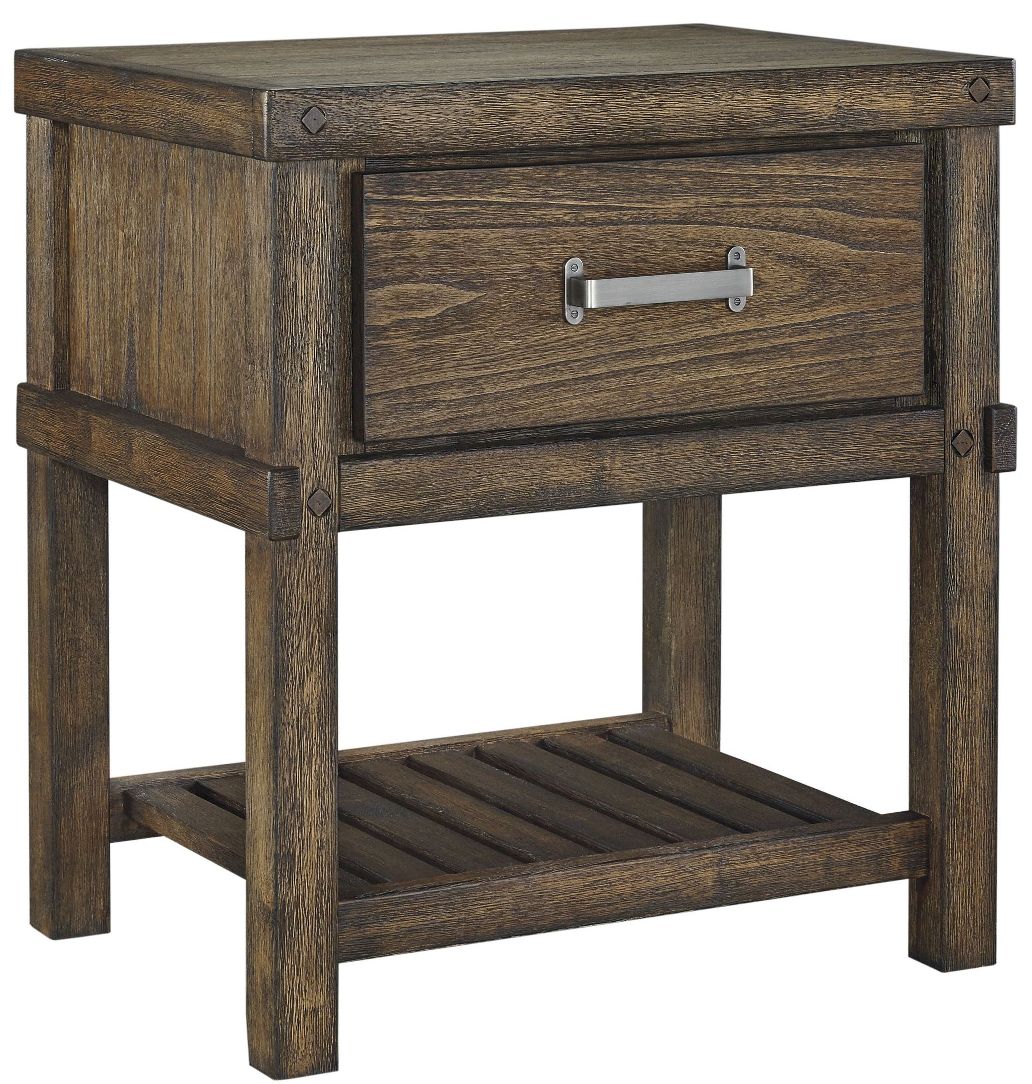 furnitureetc furniture more leystone dark brown drawer night eryn accent table stand from ashley barn style interior doors rustic barnwood end tables oriental garden occasional