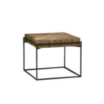 gabby home carlyle recycled elm and black metal side table sch round glynn accent cream runner white half moon hall dark wood coffee outdoor bistro blue ginger jar lamp wooden 150x150