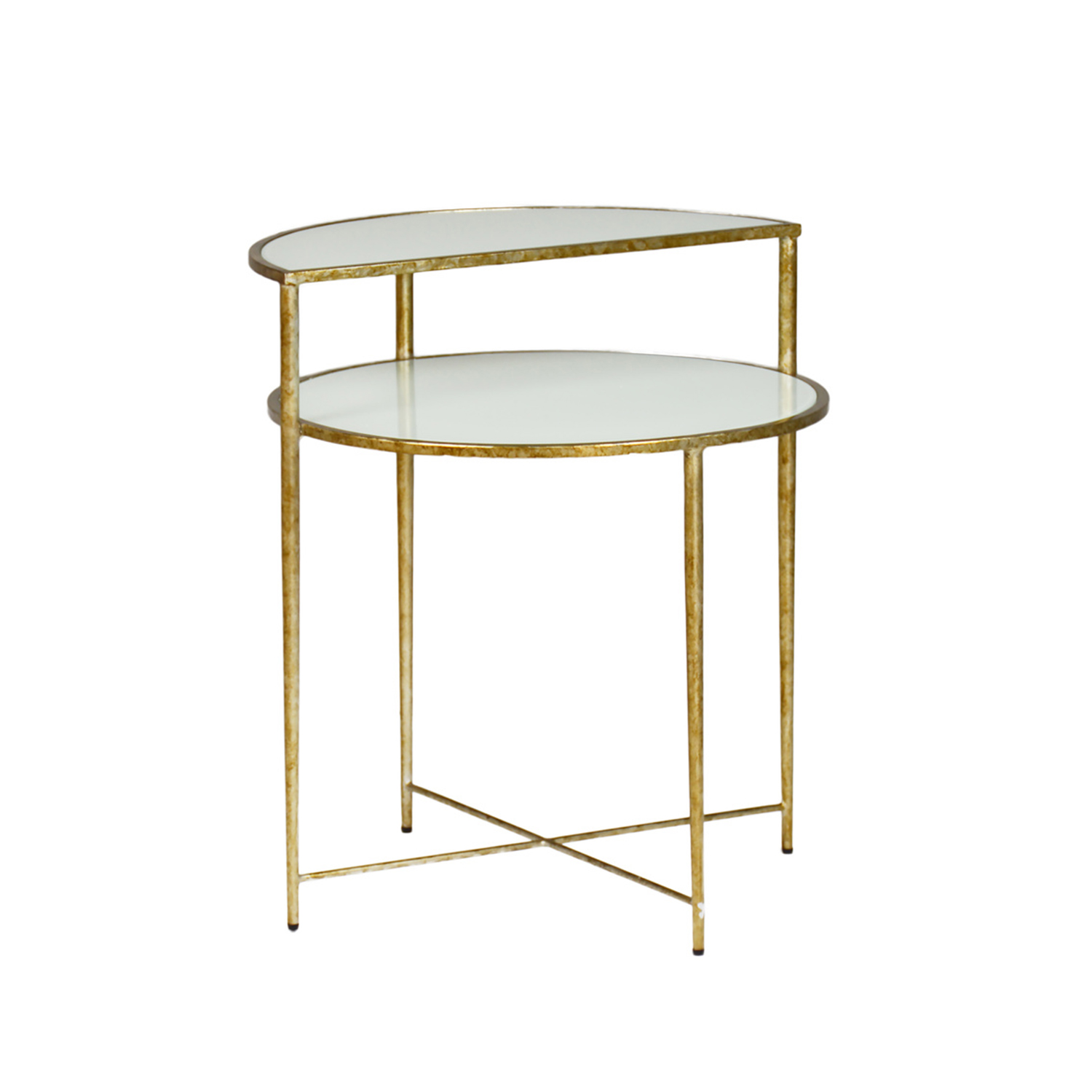 gabby home langdon white glass and champagne metal side table sch threshold accent marble nice end tables inch high west elm wood shelves set nautical chandelier light fixtures