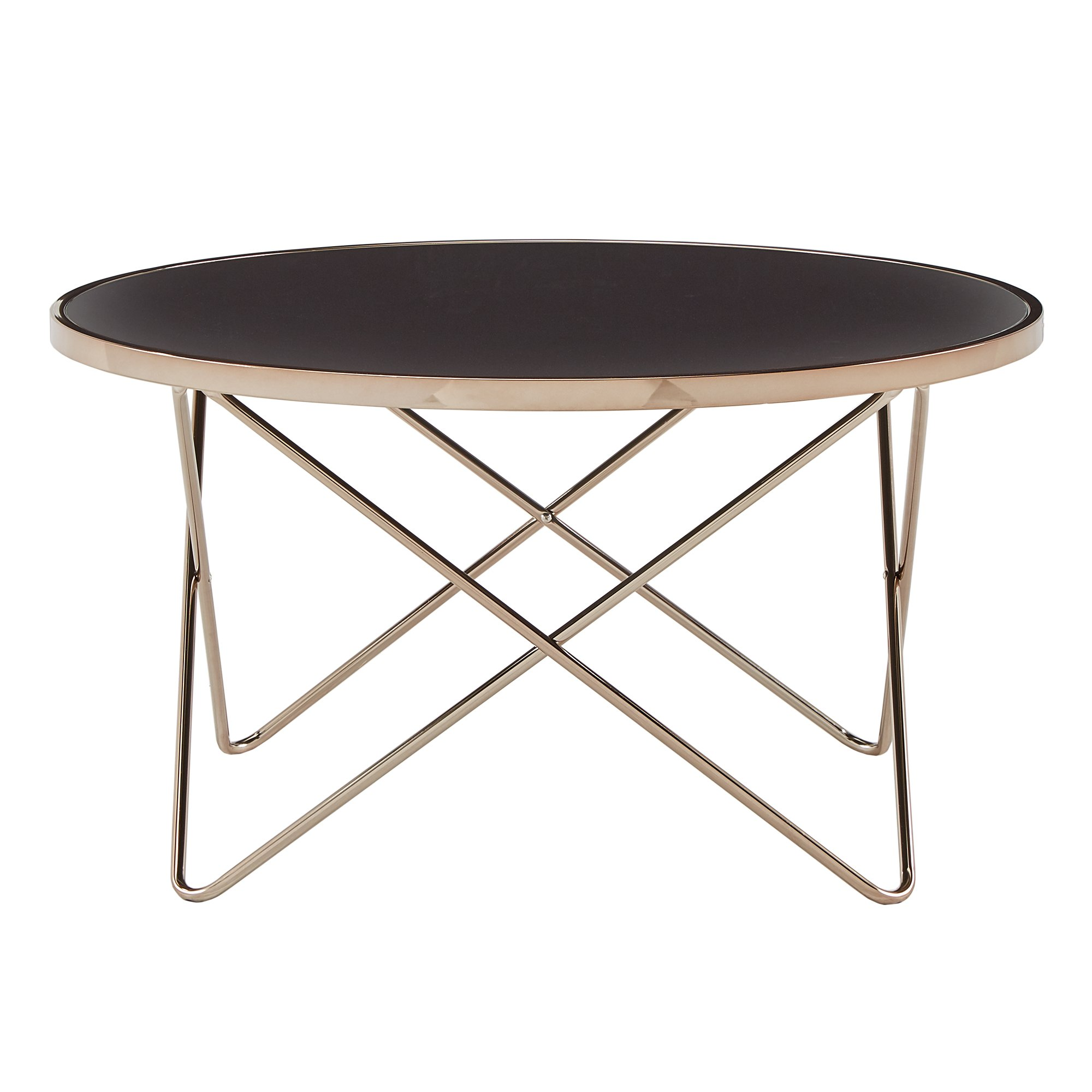 gabe champagne gold finish hairpin leg accent tables with black glass top inspire bold room essentials table free shipping today light lamp threshold espresso legs small entryway