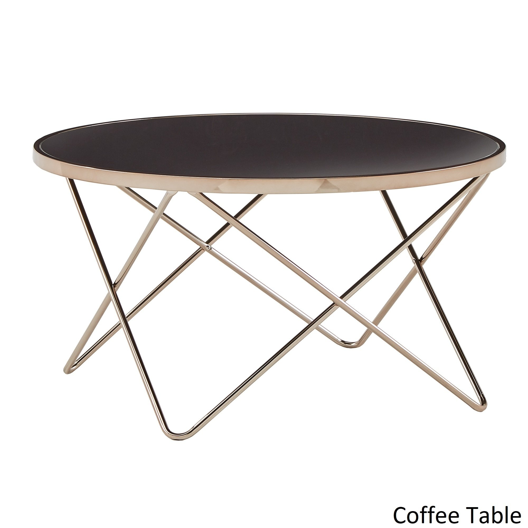 gabe champagne gold finish hairpin leg accent tables with black glass top inspire bold room essentials table free shipping today rectangular marble dining farm style coffee easy
