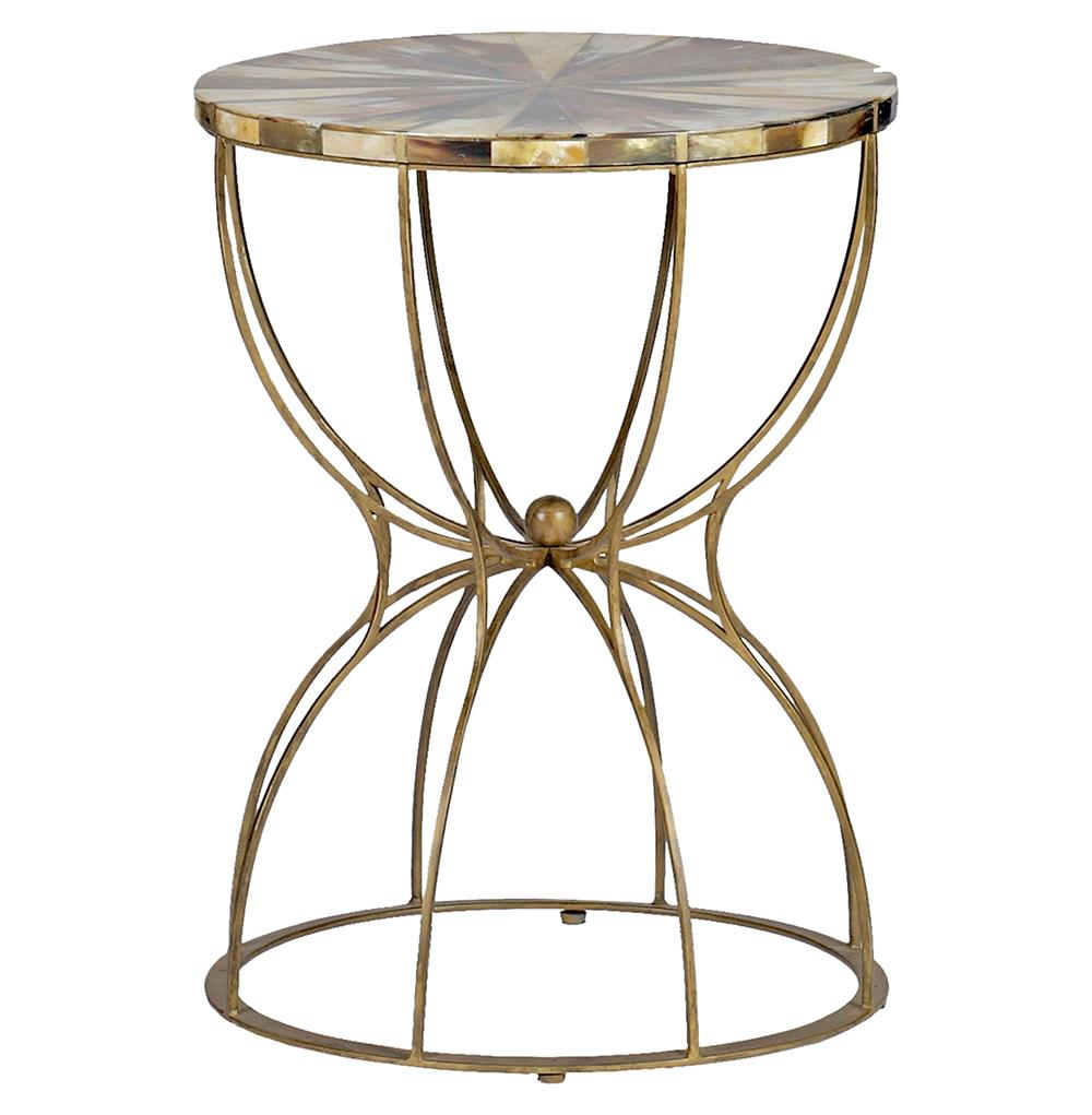 gabrielle hollywood regency hourglass brass horn side end table product tables accent kathy kuo home faux marble ikea thin small nightstands for bedroom sheesham dining folding