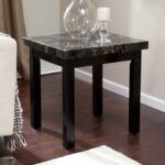 galassia faux marble end table tables home goods accent threshold contemporary round side unfinished chairs small plastic garden clear glass coffee nesting console brown patio 150x150
