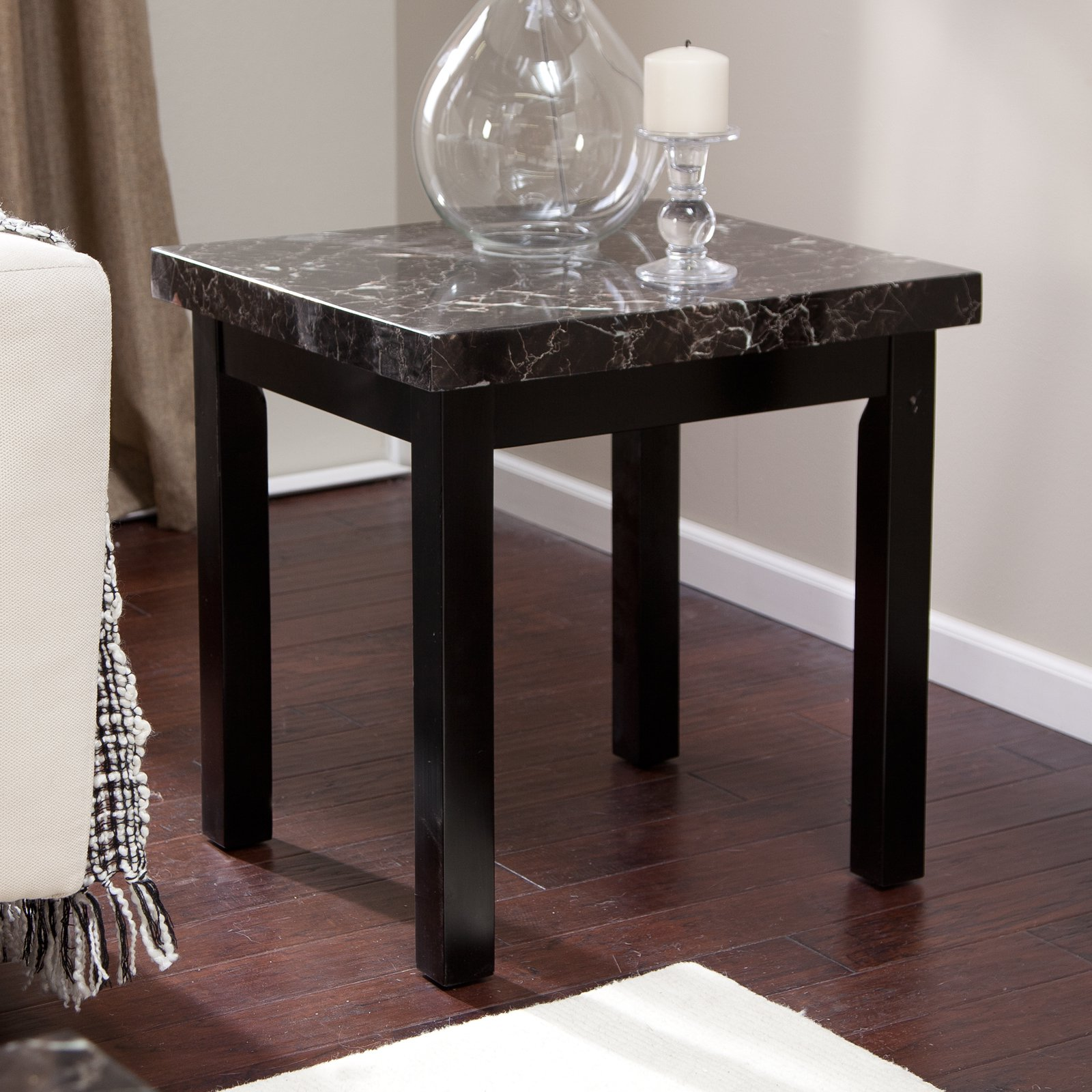 galassia faux marble end table tables home goods wood accent threshold shelf front door entry crystal lamps pottery barn dining wall wine rack foyer small desk with hutch target
