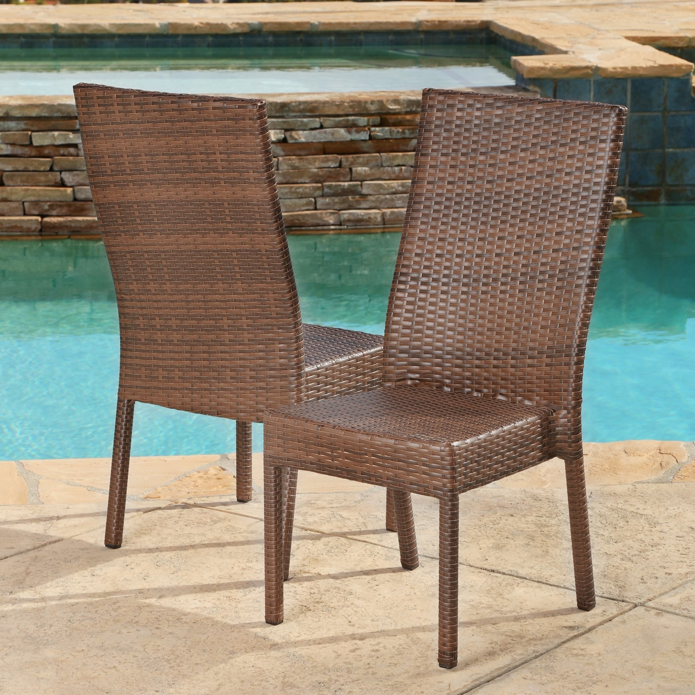 gallant outdoor wicker dining chairs for cozy homes accent tables high back cane kitchen rocking round resin coffee table full bedroom furniture dale tiffany shades frosted glass