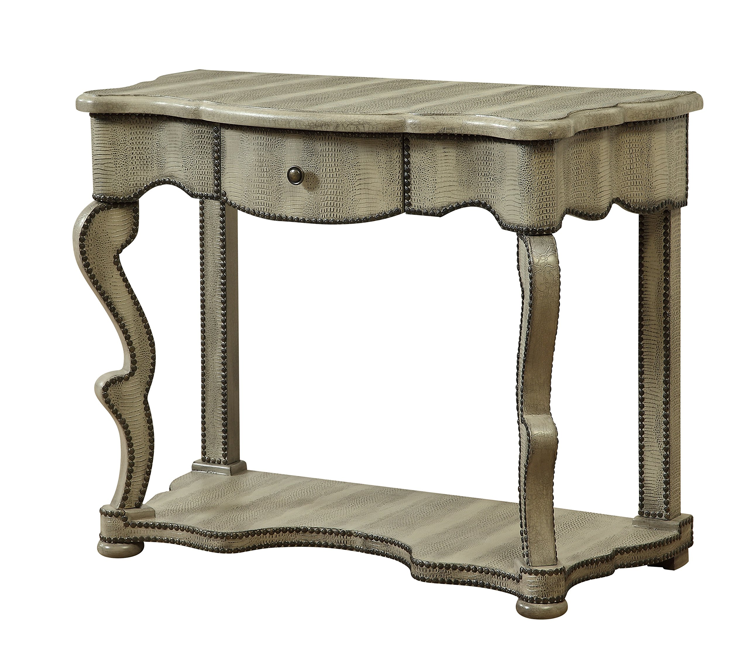 galleon treasure trove accents one drawer console table accent end burnished textured corner curio cabinet blue and white lamps solid marble coffee inch legs small phone best dorm