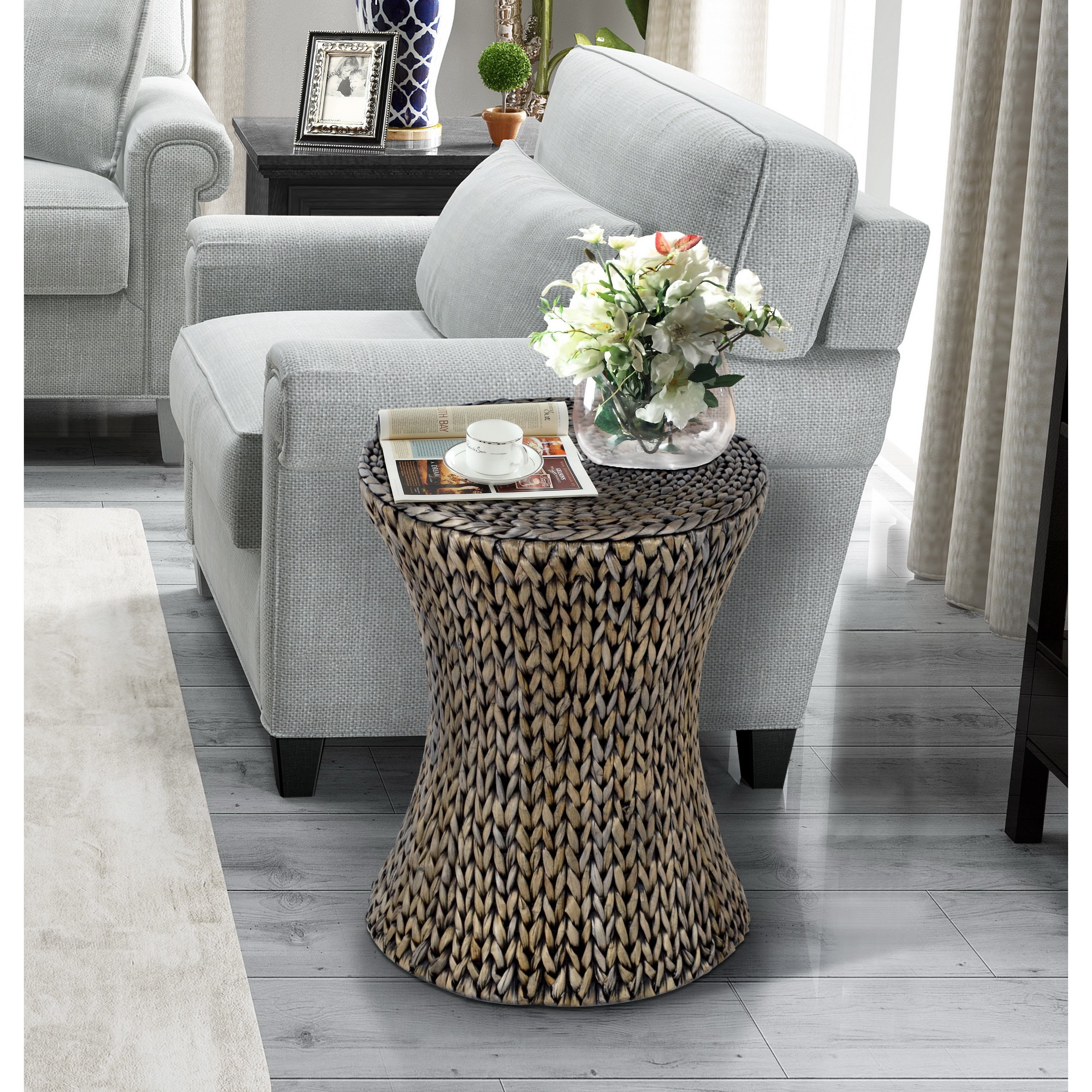 gallerie decor hourglass accent table free shipping room essentials mixed material today couch tables target tall small round dining legs wood victorian living furniture garden