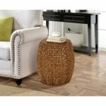 gallerie decor tall drum accent table free shipping today wood folding snack reclaimed kitchen mirrored desk target cloth decoration pier one candles outdoor iron side round 150x150