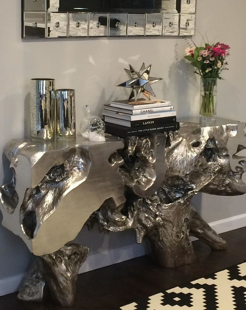 gallerie sequoia console table design ideas accent naturally inviting our luminescent brings coffee tray target kirklands bar stools tablecloth nautical lamp shades small wrought