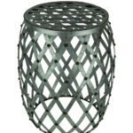 galvanized finish indoor outdoor metal accent drum table thc stool rustic furniture diy industrial coffee small armchair kitchen for jcpenney bedroom rattan chairs build side 150x150
