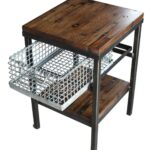 galvanized storage basket nightstand end table with shelf antique accent baskets small teal argos bedroom furniture glass stacking tables hand painted porcelain lamps white garden 150x150