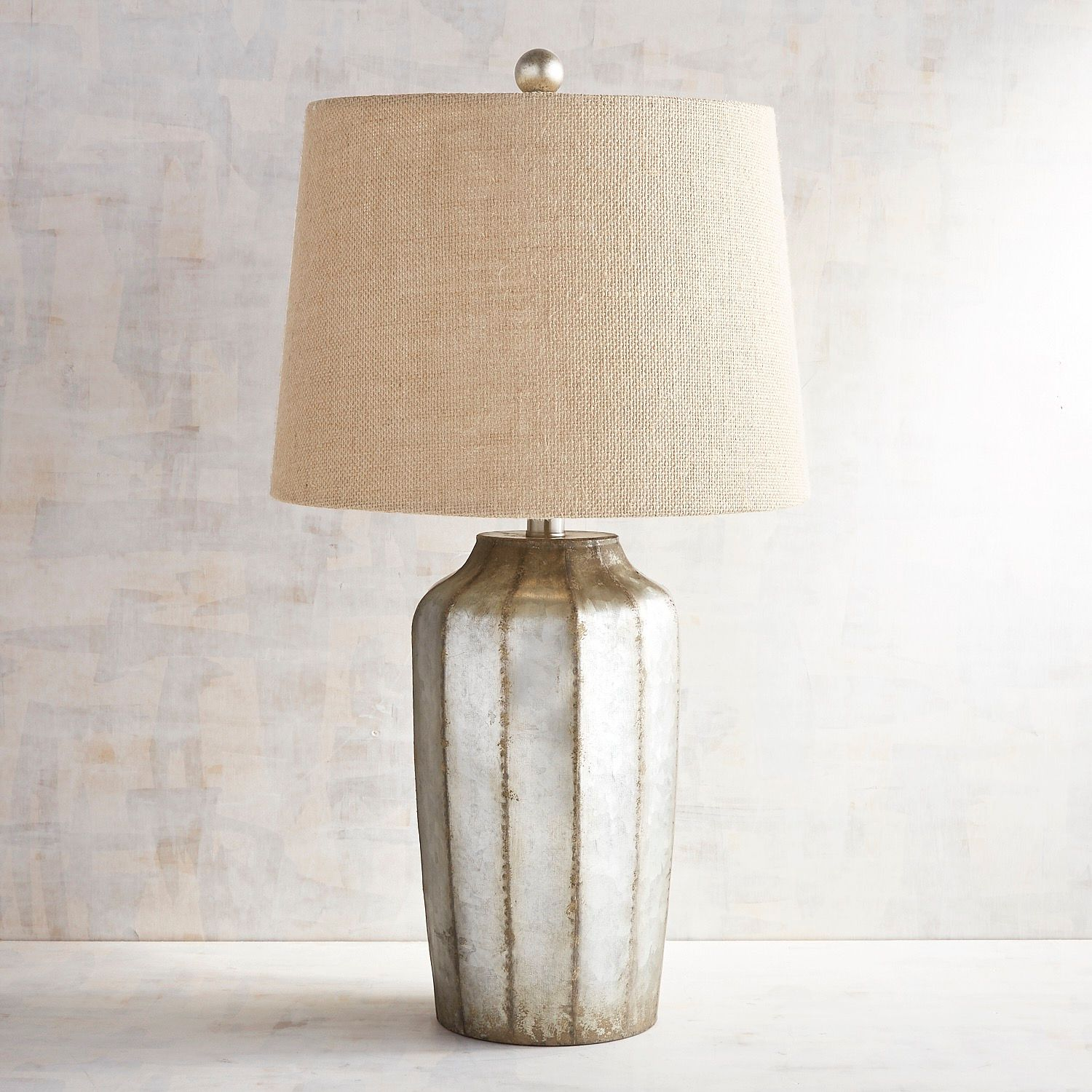 galvanized table lamp pier imports one accent lamps cordless for living room farm white legs wedding reception decorations hardwood drop leaf with folding chair storage metal