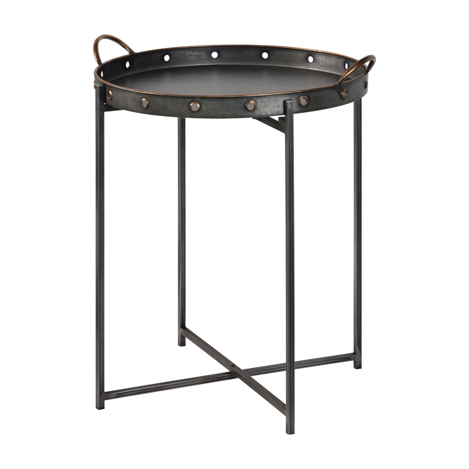 galvanized tray top accent table shades light bronze low console cabinet smoked glass side acrylic pier one furniture catalog drum set cymbals chair covers area rugs ikea storage
