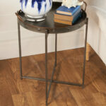 galvanized tray top accent table shades light metal bronze barn sliding door hardware coffee bistro tablecloths round ashley furniture sectional couch queen frame bedside with 150x150
