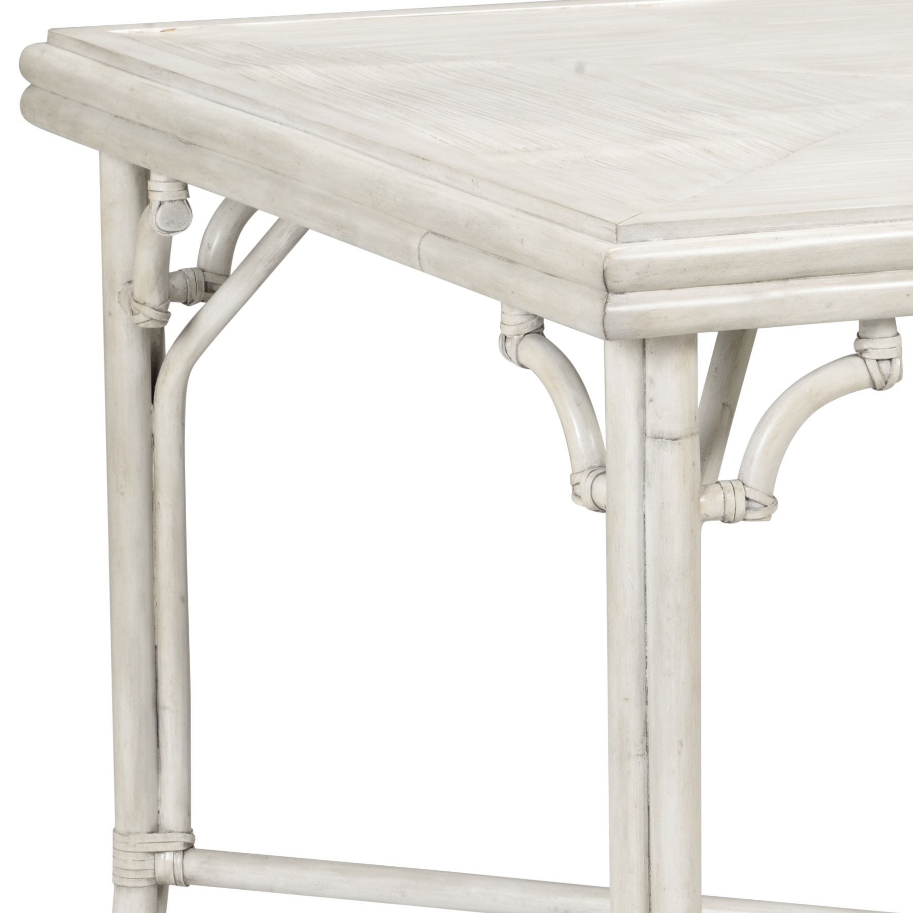 game table accent whitewashed gray bamboo and rattan duke pottery barn metal carpet transition strip threshold couch end furniture small night lamps corner cabinet sauder mission
