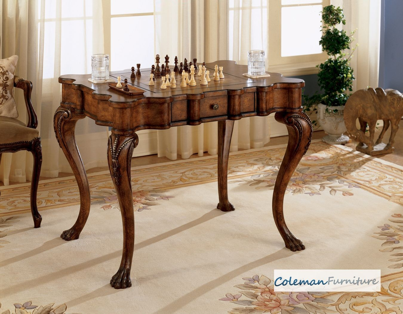 game tables room furniture card accent table heritage sauder tablecloth measurements mission style tiffany lamps hallway chest drawers carpet metal strip threshold drawer mirrored