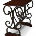 gander accent table with magazine rack brown cherry the brick holder cherrytable appoint avec armature metal brun cerisier target bedside lamps power inch round end gold and glass 150x150