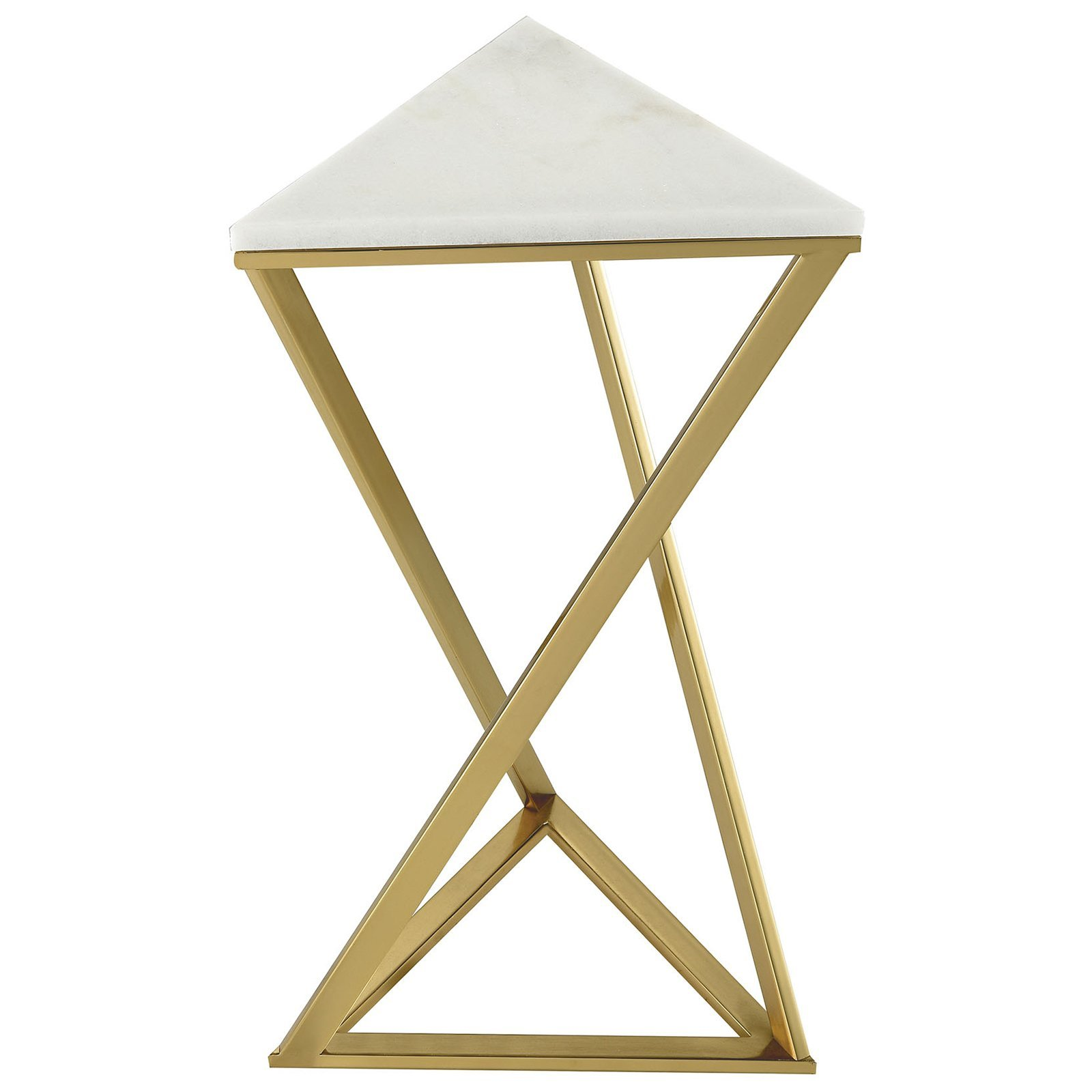 garde contemporary accent tables white fratantoni lifestyles gold metal table plated with genuine marble top thomasville end funky outdoor furniture lamp target chaise teal chair