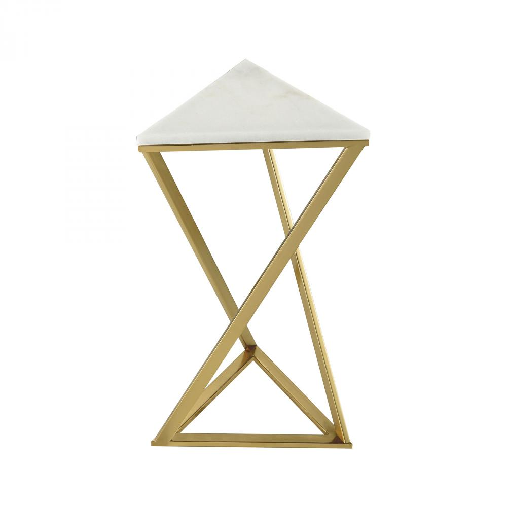 garde gold plated metal accent table with genuine white marble top umbrella and stand cast nate berkus round coffee pier one side retro inspired furniture vintage chairs black