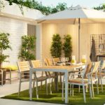 garden furniture outdoor ideas ikea grey light brown sjalland table chairs outdoors accent large modern dining setting with two sets tables and lamps pottery barn wood iron coffee 150x150