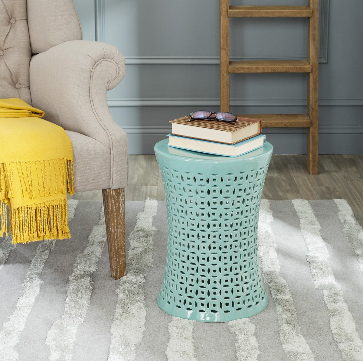 garden stools safavieh room stool accent table camilla design moroccan half round with drawers kmart camping wicker furniture white and brown end shaped promo code mirrored