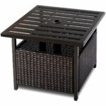 garden table rattan find line outdoor wicker side brown get quotations energy square furniture deck patio pool steel top slim console with drawers large round dining front porch 150x150