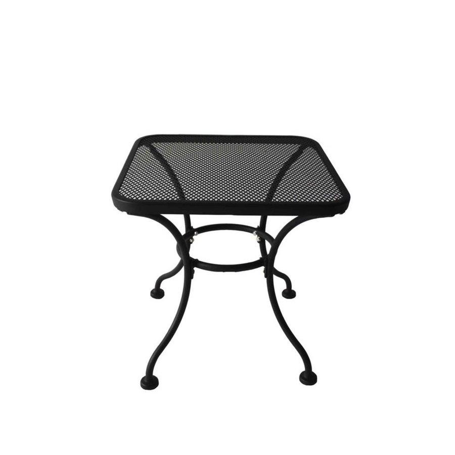 garden treasures davenport square end table patio umbrella accent gold entryway target black all wood sofa xmas tablecloth inch wide console small metal legs side drawers bedroom